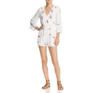 NWT En Creme Off White Embroidered Romper